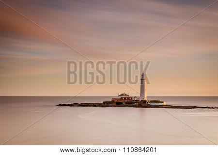 Long Exposure At St Mary's Lighthouse