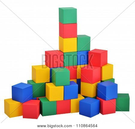 Wooden Toys Cube Castle Building Game