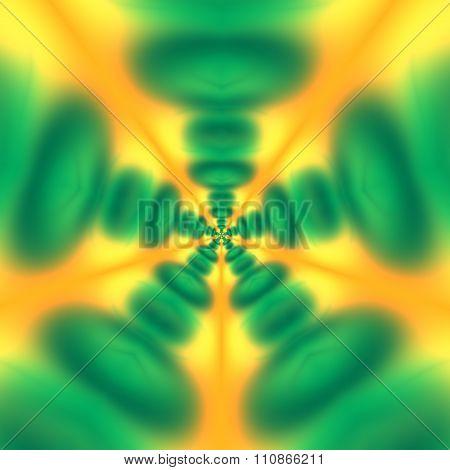 Abstract blurry background design. Deep aqua bubble pattern. Modern digital art.