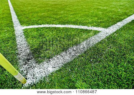 Fresh Painted Sideline On Soccer Field