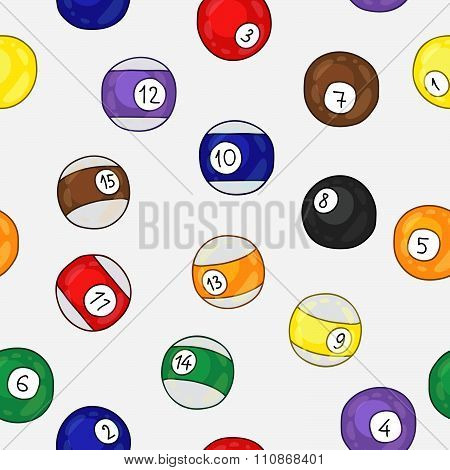 Seamless pattern of billiard balls