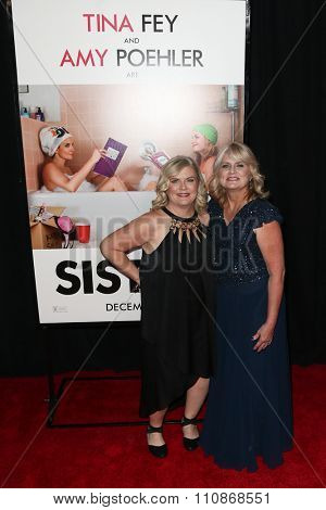 NEW YORK-DEC 8: Writer Paula Pell (L) and sister Patti DeLaCruz attend the premiere of