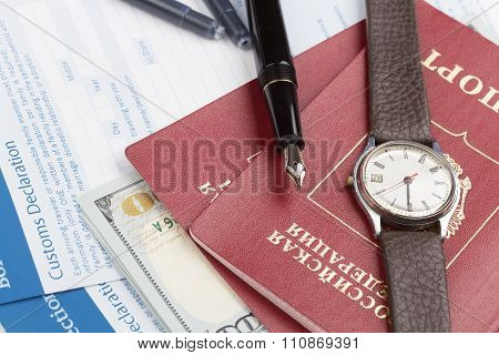 Customs Declaration With Russian Travel Passports