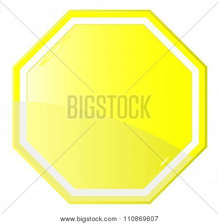 Isolated Blank Yellow Sign, Vector