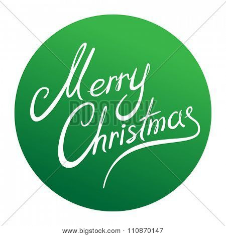 Merry Christmas green round sign