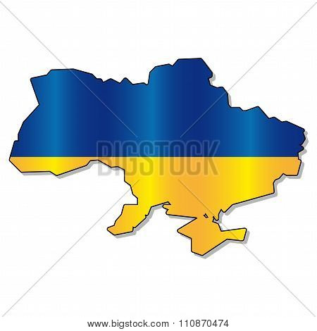 Ukrainian flag map