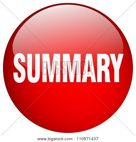 Summary Red Round Gel Isolated Push Button