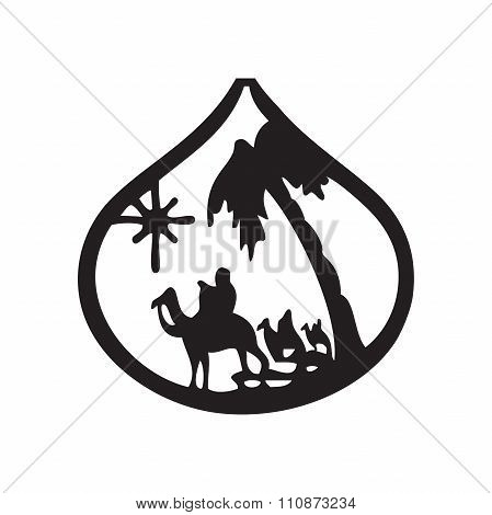 Adoration Of The Magi Silhouette Icon Vector Illustration