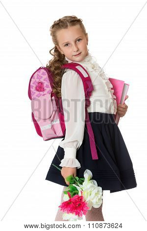 Cute girl schoolgirl