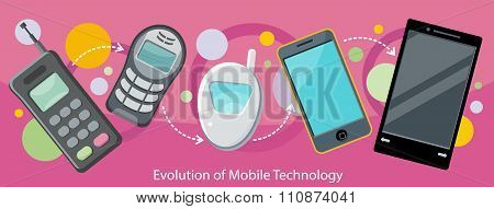 Evolution of Mobile Technology Design Flat