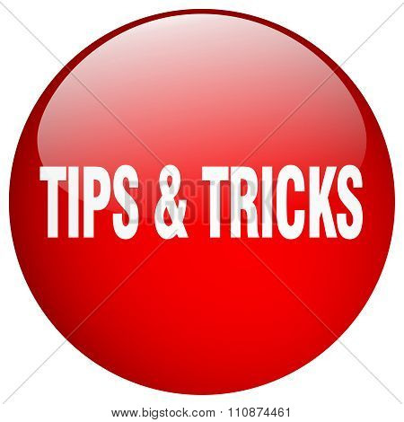 Tips & Tricks Red Round Gel Isolated Push Button