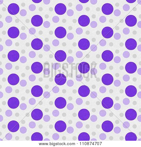 Purple And White Polka Dot Tile Pattern Repeat Background
