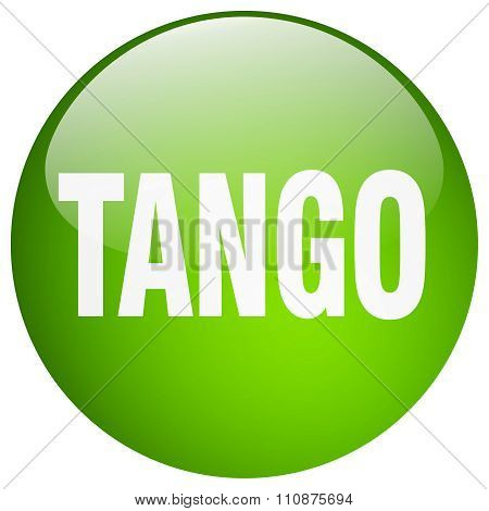Tango Green Round Gel Isolated Push Button