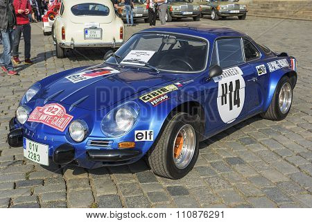 Renault Alpine retro car.