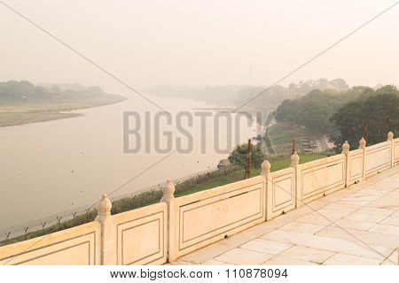Air Pollution over the Yamuna River