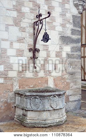 Medieval stone well in Troyes