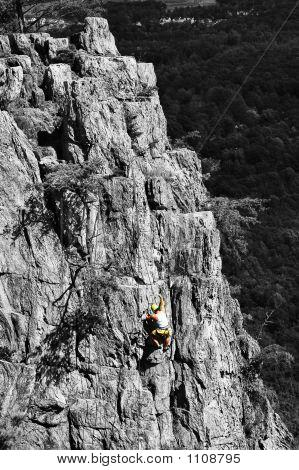 Man Against Mountain