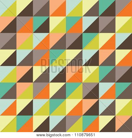 Vector modern seamless colorful geometry triangles pattern color abstract