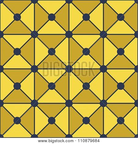 Vector modern seamless colorful geometry triangles dots pattern color yellow abstract