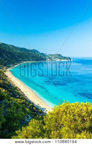 Agios Nikitas Beach In Lefkada Island, Greece - Ionian Islands