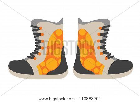 Snowboard sport clothes boots elements