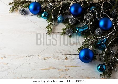 Christmas Blue Balls Decoration