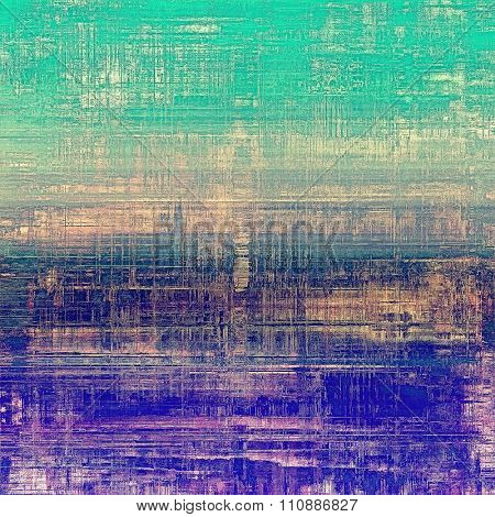 Old abstract grunge background for creative designed textures. With different color patterns: yellow (beige); purple (violet); blue; green