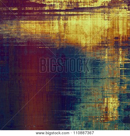 Old texture as abstract grunge background. With different color patterns: yellow (beige); brown; purple (violet); blue