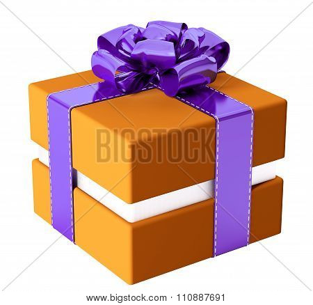 Gift Box Isolated 3D Rendering