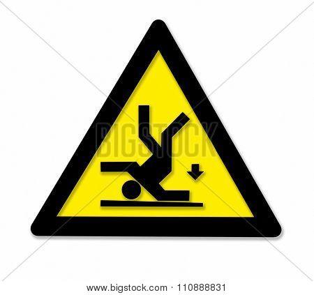 Falling Danger Sign