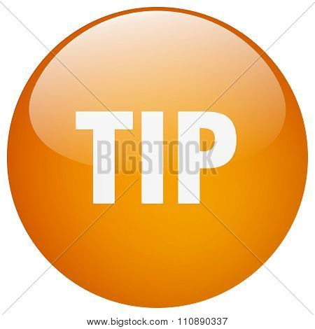 Tip Orange Round Gel Isolated Push Button