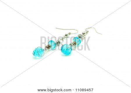 cyan swarovski earrings