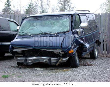 Smashed Van Side