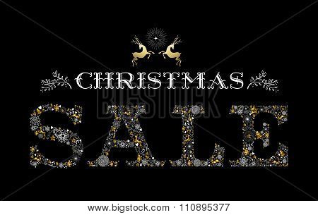 Christmas Sale Gold Deer Holiday Elements Shop