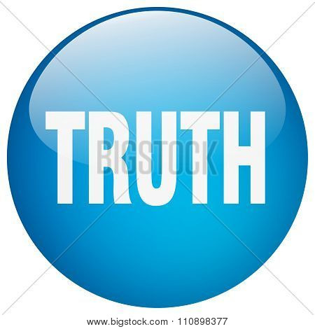 Truth Blue Round Gel Isolated Push Button