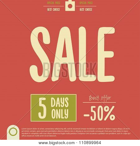 Big Clearance Sale Poster. Vector illustration for end of season sale