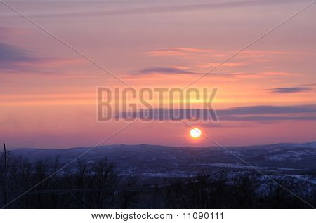Sunset in the North