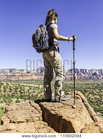Woman On Hike