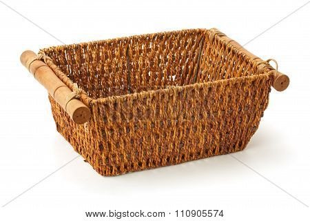 Wicker Basket Of Natural Materials