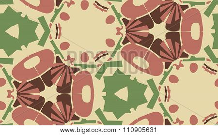 Repeating Maroon Wallpaper Pattern