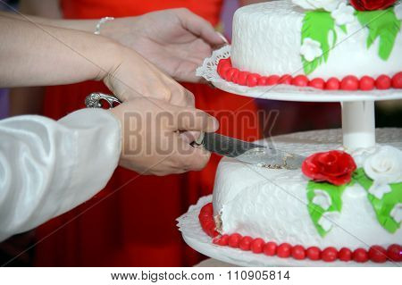 Cutting of the cake.