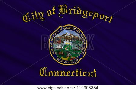 State Flag Of Bridgeport - A City In The United States, In Connecticut