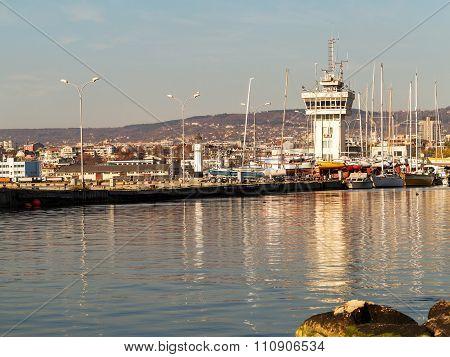 Varna, Bulgaria - 18 November, 2015: Commercial Sea Port Of Varna. November 18, 2015 In Varna, Bulga