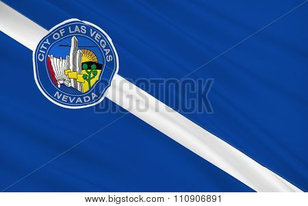 State Flag Of Las Vegas - A City In The Western United States, In Nevada