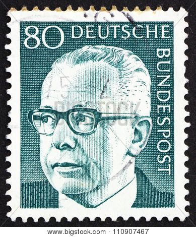 Postage Stamp Germany 1971 Gustav Heinemann