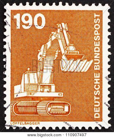 Postage Stamp Germany 1982 Power Shovel