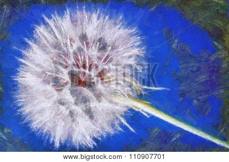 Dandelion virtual painting