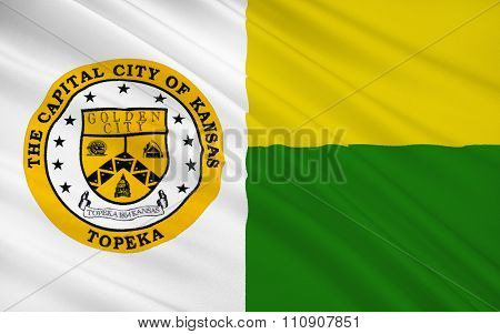 State Flag Of Topeka - A City In The Central Part Of The United States