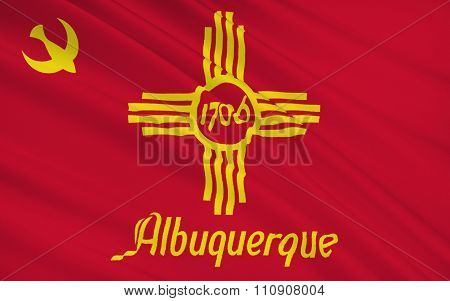 State Flag Of Albuquerque - A City In The Southwestern United States, The Largest City In The State