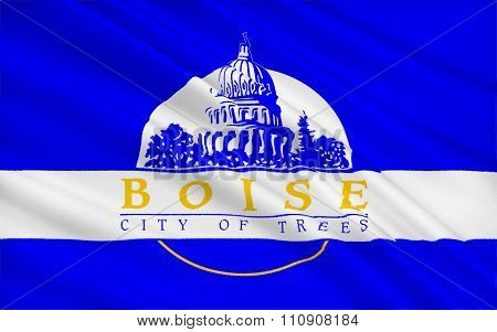State Flag Boise - The Capital And Largest City In The State Of Idaho